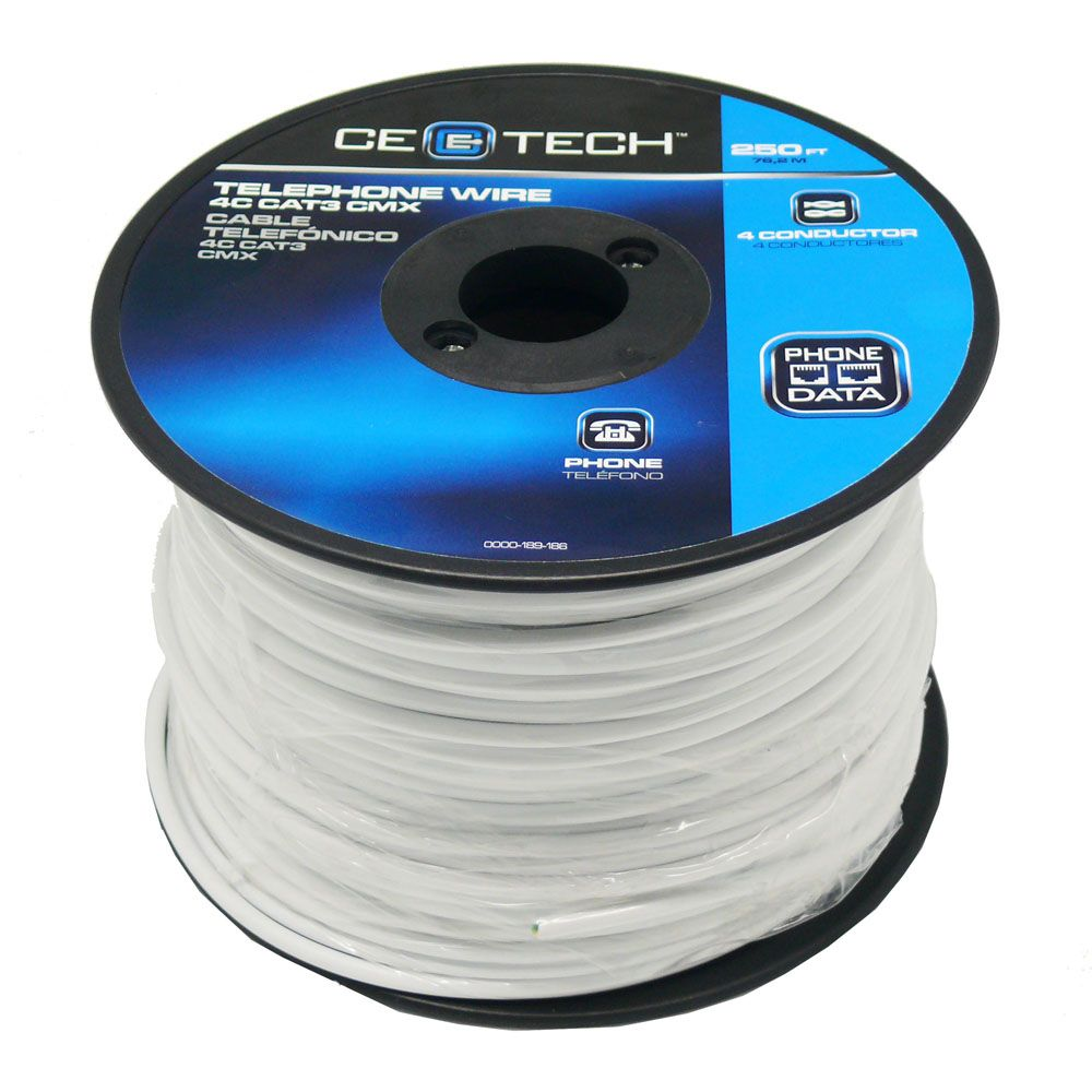 telephone wire 4c cat3 cmx in white [ 1000 x 1000 Pixel ]