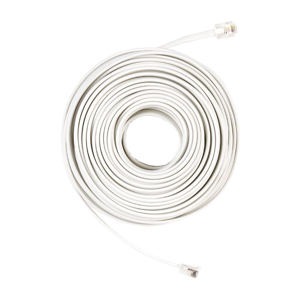 small resolution of phone line cord in white