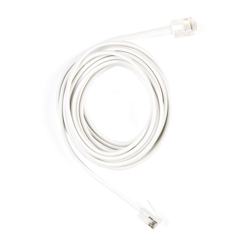 medium resolution of phone line cord in white