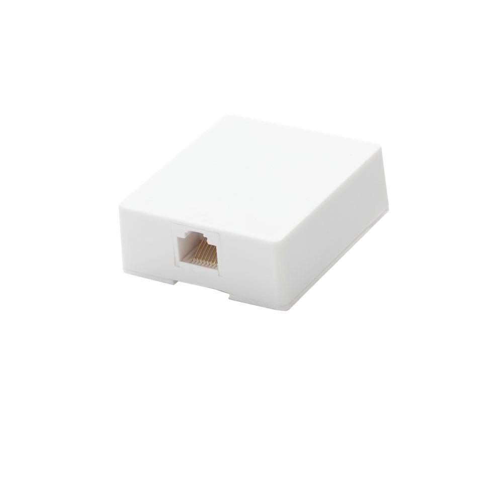 commercial electric surface mount ethernet jack [ 1000 x 1000 Pixel ]