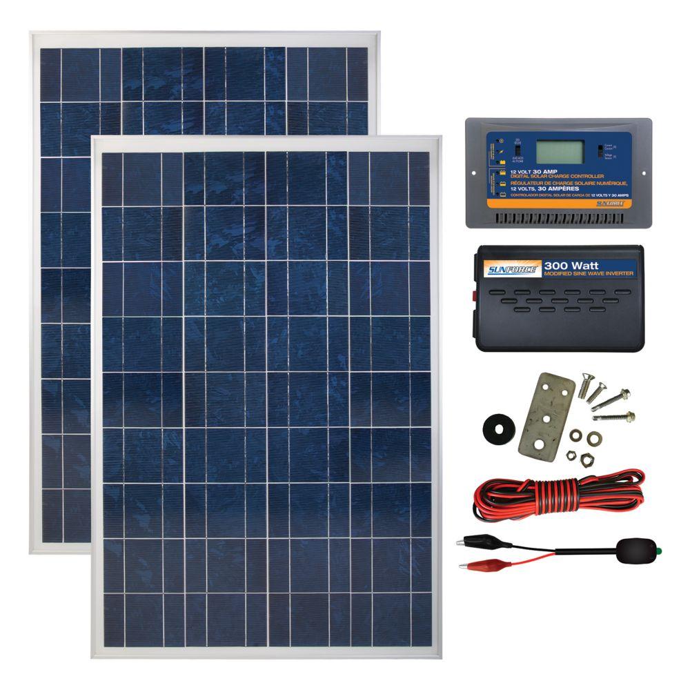 coleman 200 watt 12 volt solar backup kit [ 1000 x 1000 Pixel ]