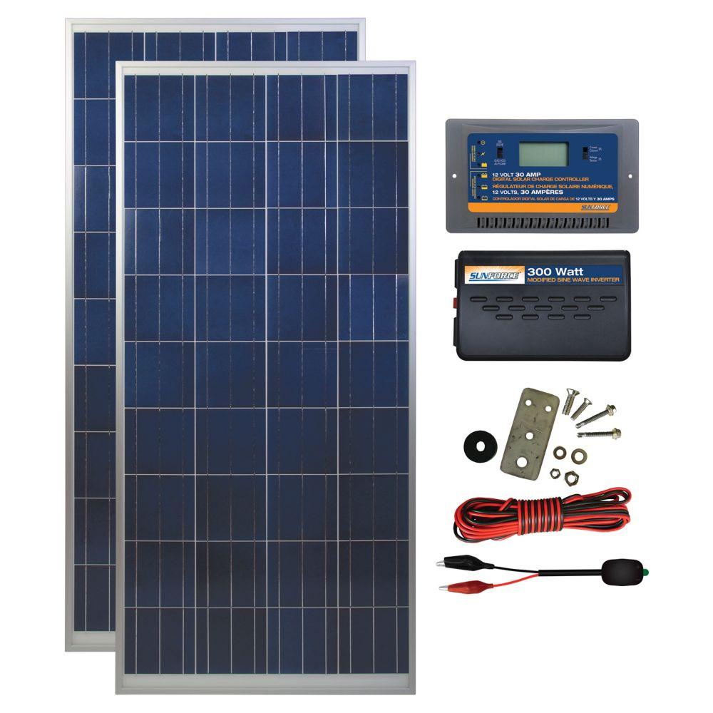 small resolution of coleman 300 watt 12 volt solar backup kit