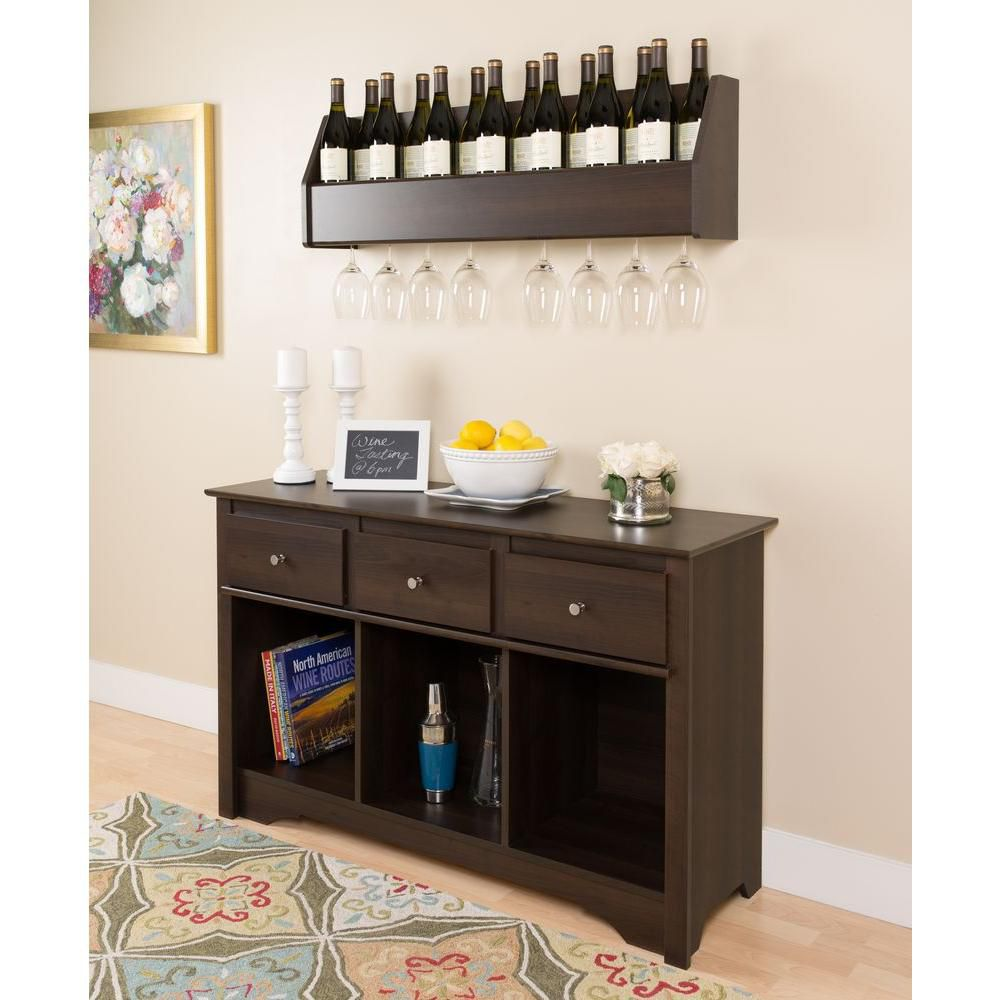 living room console staging a prepac espresso the home depot canada