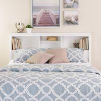 Prepac White Full / Queen Bookcase Headboard | The Home ...