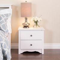 Prepac White Monterey 2 Drawer Nightstand   The Home Depot ...
