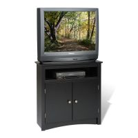 Prepac Black Tall Corner TV Cabinet | The Home Depot Canada
