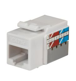 commercial electric cat 5e jack white 25 pack  [ 1000 x 984 Pixel ]