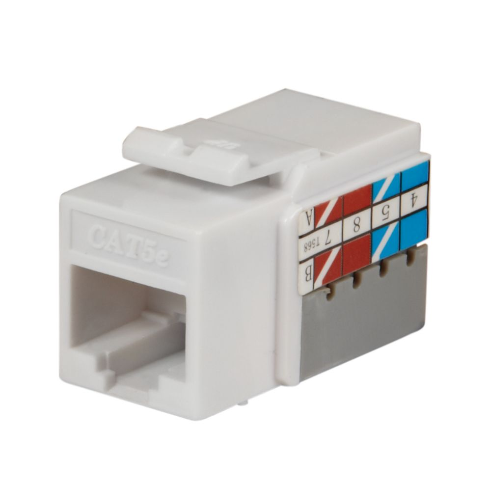 hight resolution of commercial electric cat 5e jack white 25 pack