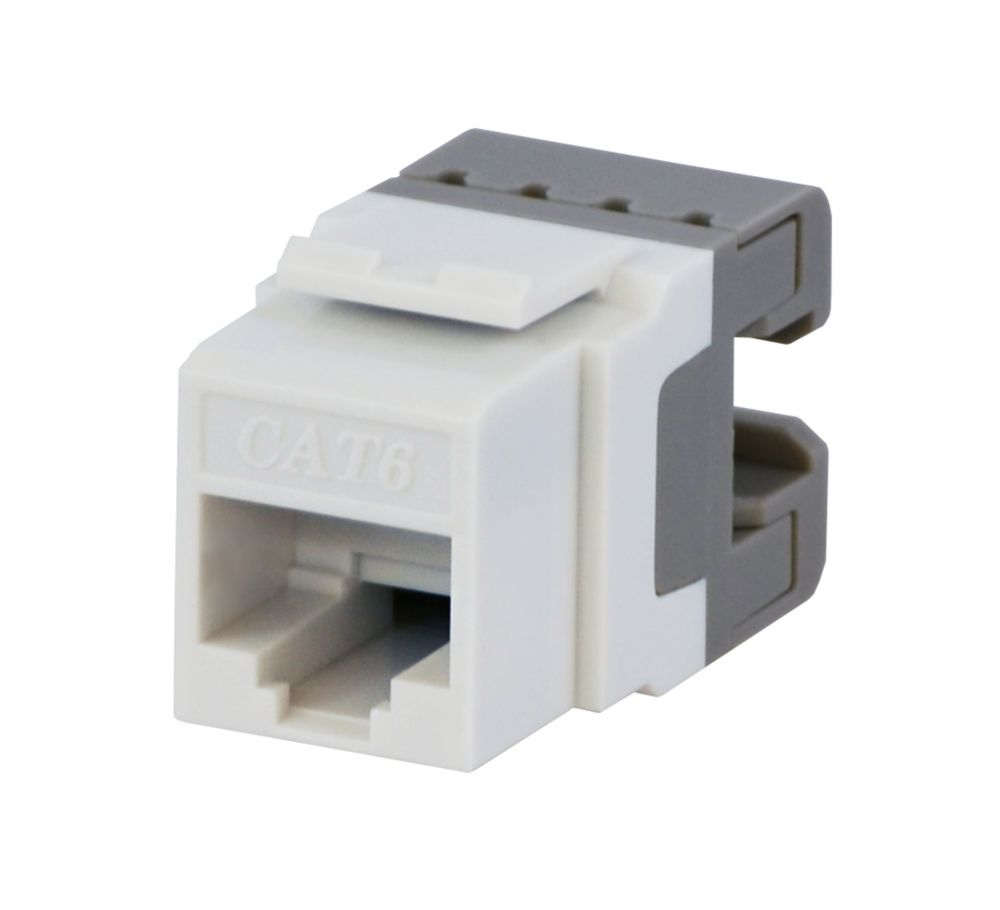 medium resolution of cat6 jack in white photo of product ce techs