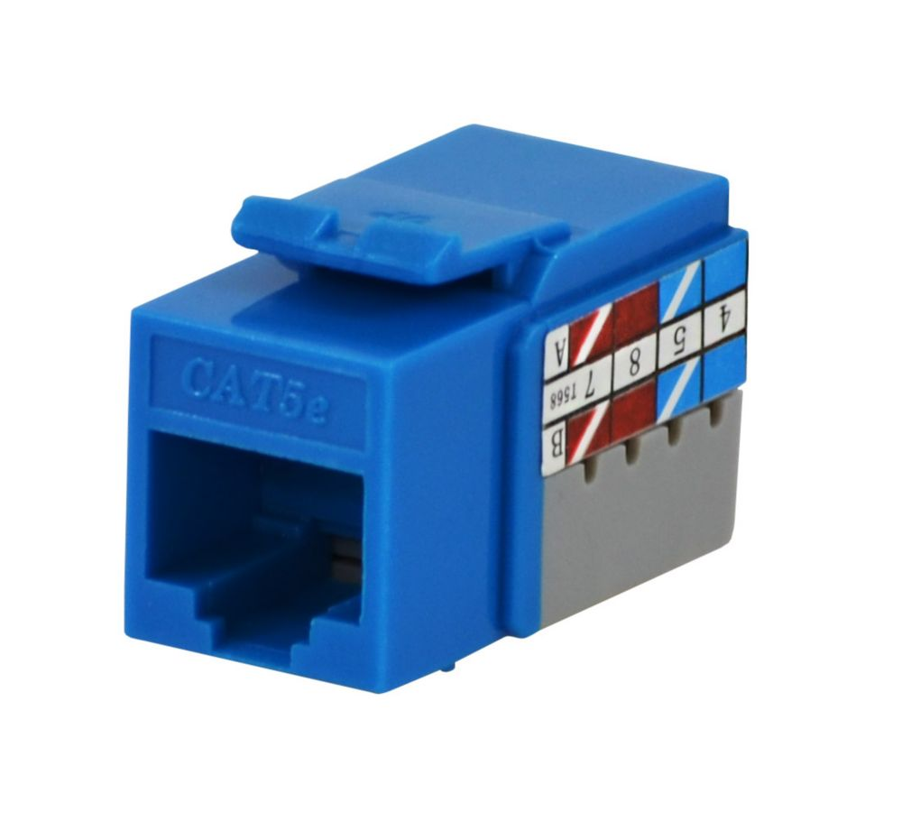 hight resolution of commercial electric cat5e jack in blue
