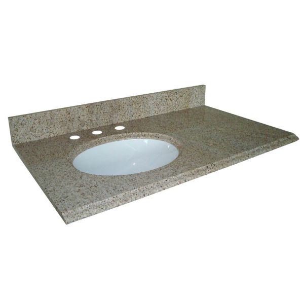 37 Inch Granite Vanity Top with Sink