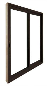 Stanley Doors 60-inch x 80-inch Brown Double Sliding Patio ...