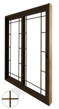 Stanley Doors Double Sliding Patio Door - Prairie Style ...