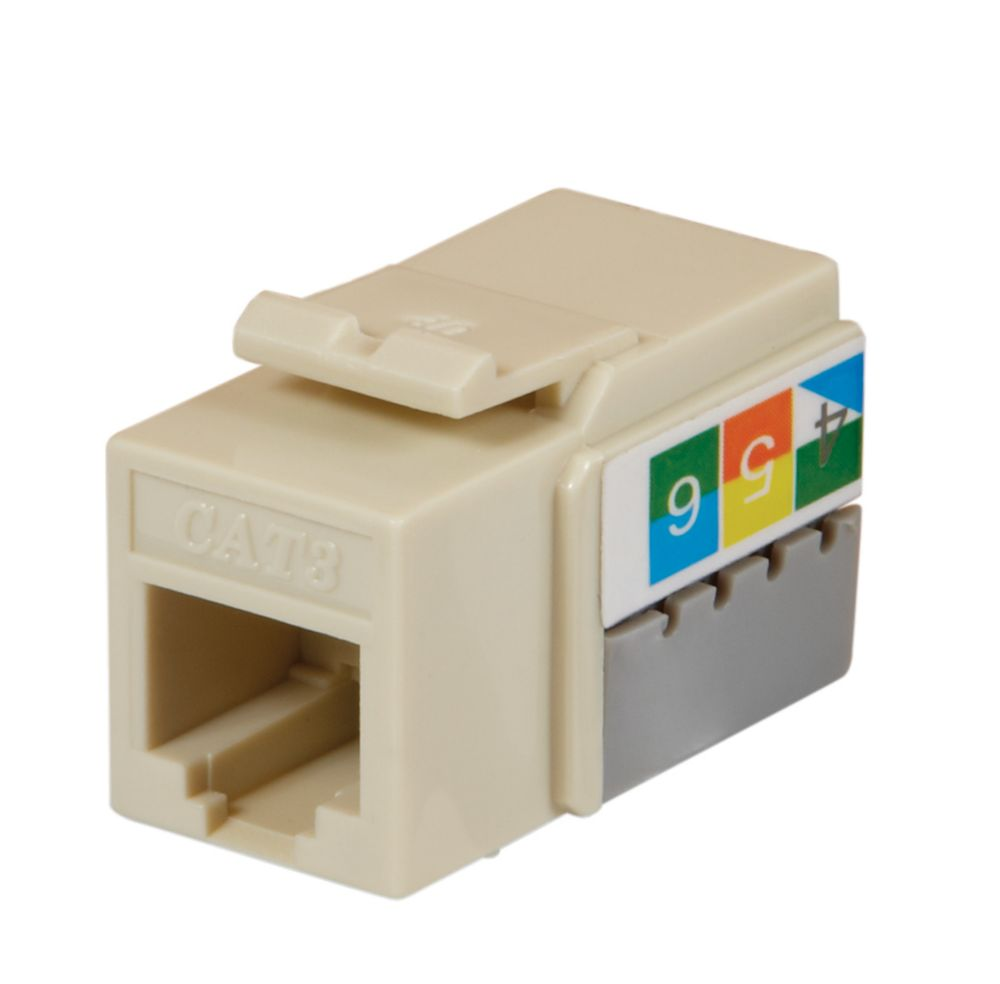 medium resolution of commercial electric cat 5e jack lt almond