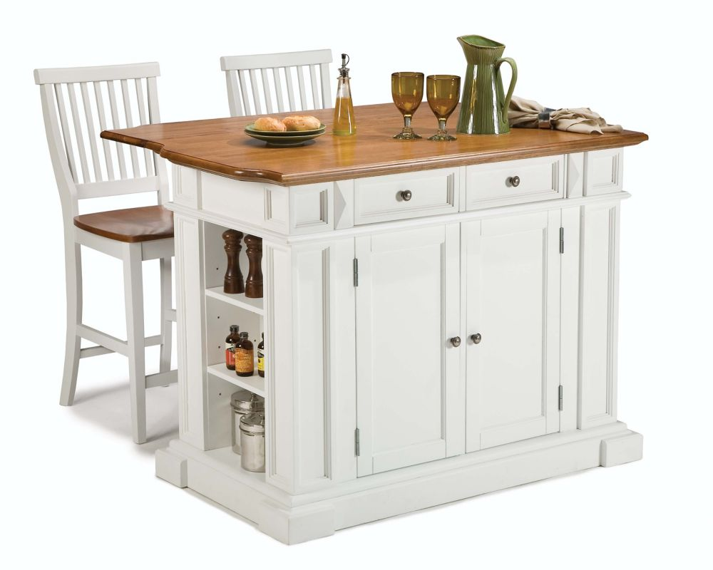 moveable kitchen island small islands carts the home depot canada with two stools white