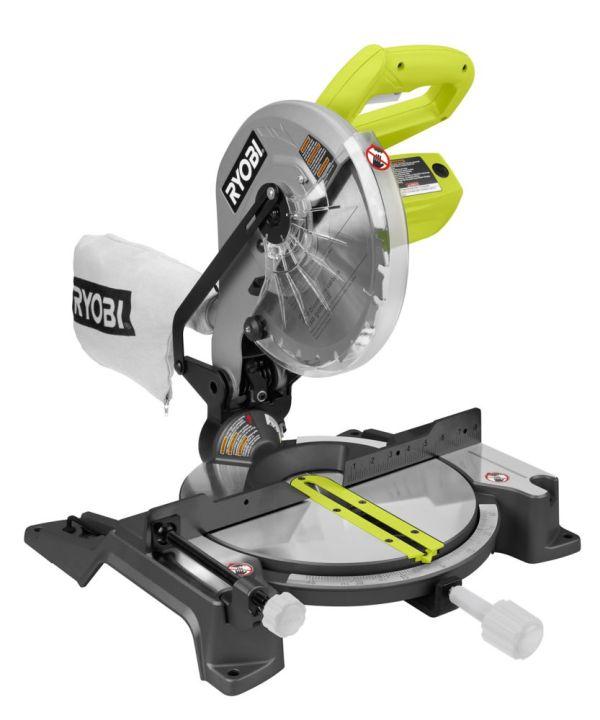Ryobi 10- Compound Miter With Laser Home Depot Canada