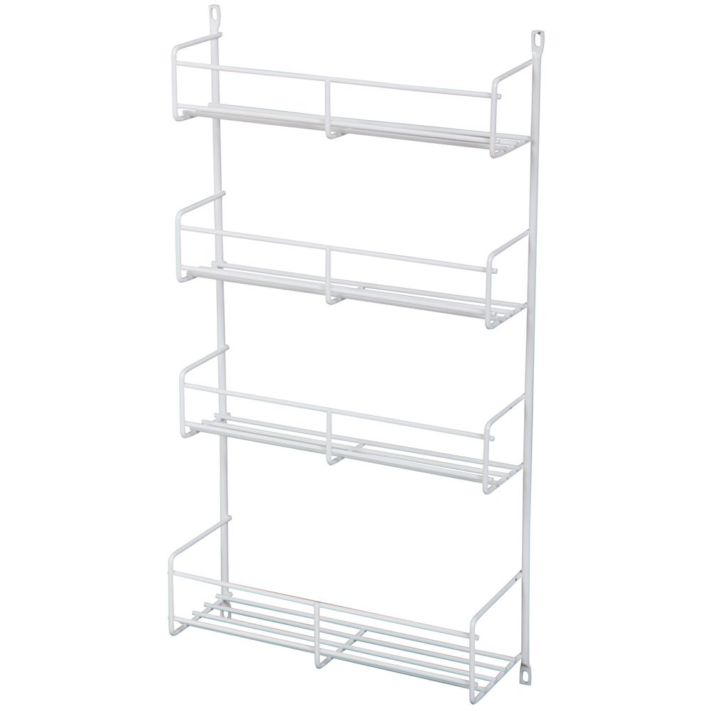 kitchen racks faucet moen tip out trays more the home depot canada door mounted white spice rack single pack 10 8125 inches wide