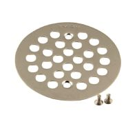 Moen Brass Tub and Shower Drain Cover in Brushed Nickel ...