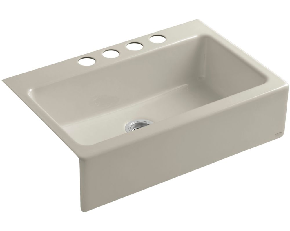 oversized kitchen sinks used commercial equipment buyers kohler dickinson r apron front undercounter sink with four hole centers the home depot canada