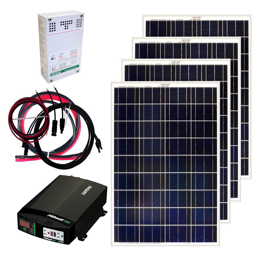 grape solar 400w off grid solar panel kit [ 1000 x 1000 Pixel ]