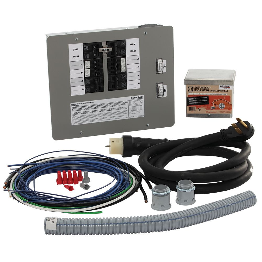 generac 50 amp generator transfer switch kit for 12 16 circuits for indoor applications [ 1000 x 1000 Pixel ]