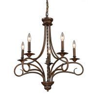 Titan Lighting 5- Light Ceiling Mount Antique Brass ...