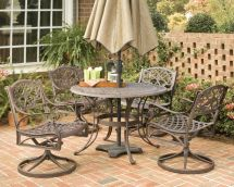 Home Styles Biscayne 5-piece Patio Dining Set With 48