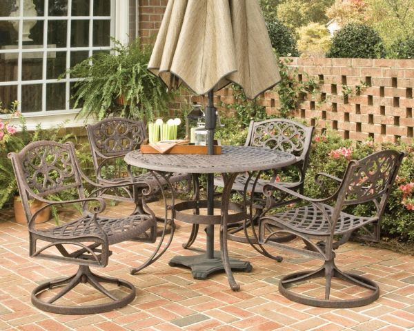Bronze 5 Piece Patio Dining Set