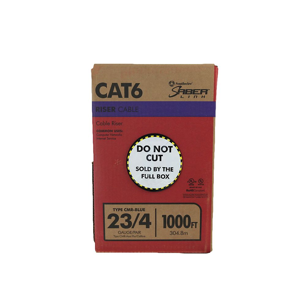 medium resolution of blue 23 4 cat6 cmr riser cable