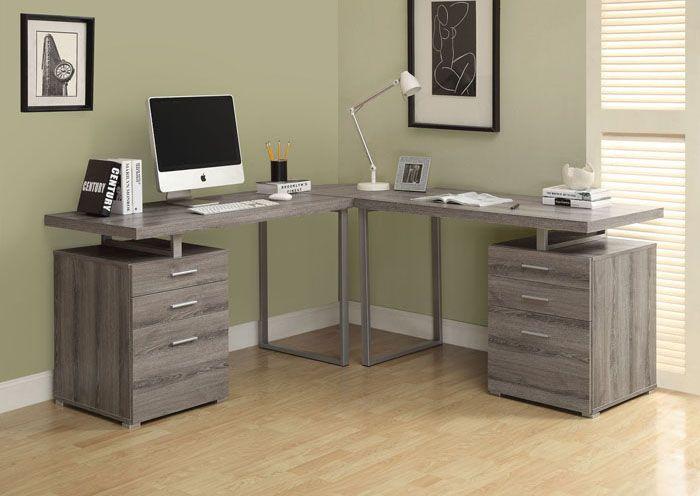 bureau d ordinateur en coin