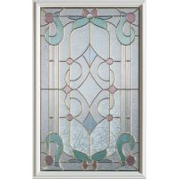 Stanley Doors Art Deco 1/2-Lite Decorative Glass Door with ...