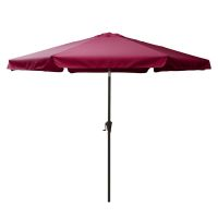Corliving Tilting Patio Umbrella in Wine Red | The Home ...