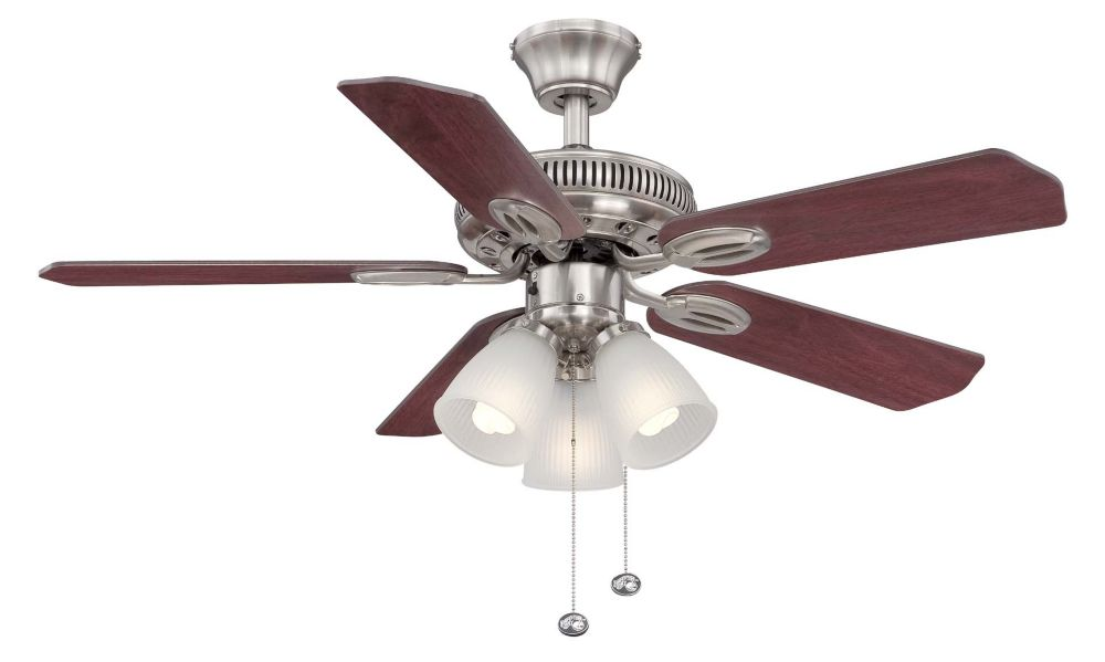 Hampton Bay Glendale 42 Inch. Brushed Nickel Ceiling Fan