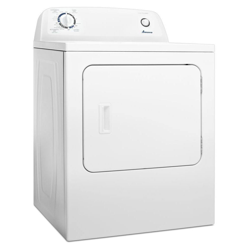 amana 6 5 cu ft top load electric dryer with automatic dryness control in white [ 1000 x 1000 Pixel ]