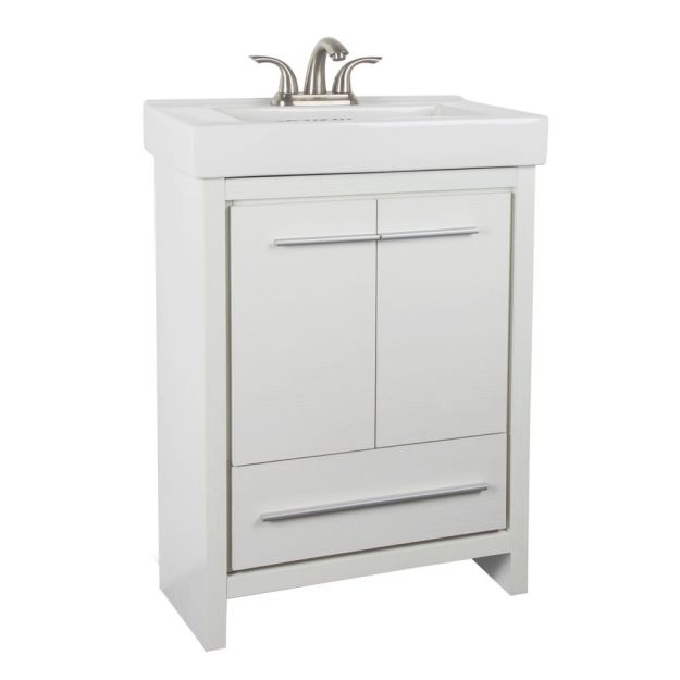 glacier bay romali 24-inch w 1-drawer 2-door freestanding vanity in