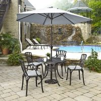 Home Styles Largo 5-Piece Patio Dining Set with Umbrella ...