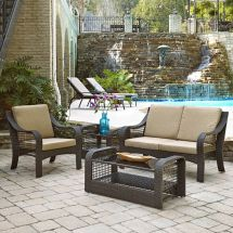 Home Styles Lanai Breeze Collection Loveseat Accent Chair