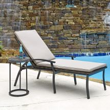 Home Styles Two Laguna Collection Patio Chaise Lounge