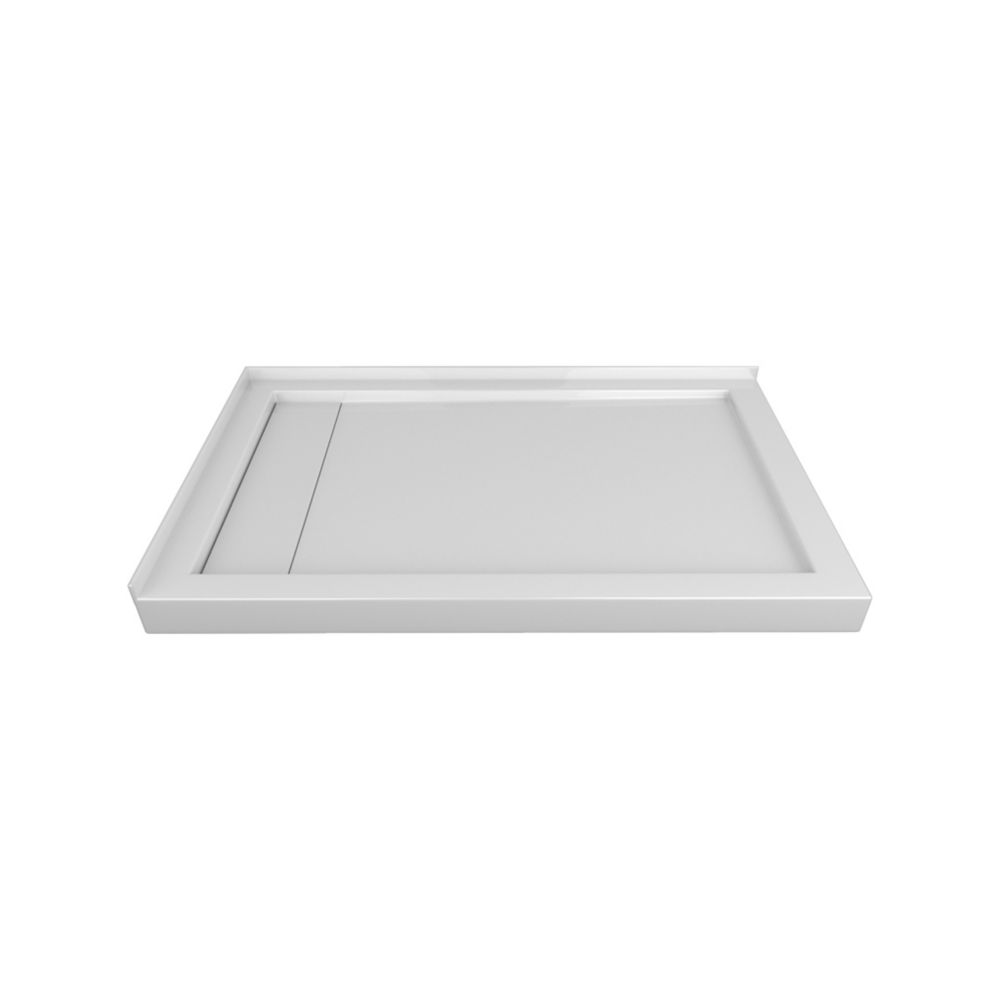 Valley 48 x 32 In. Linear Drain Double Threshold Right