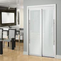 Veranda 72-inch White Framed 6-Panel Sliding Door | The ...