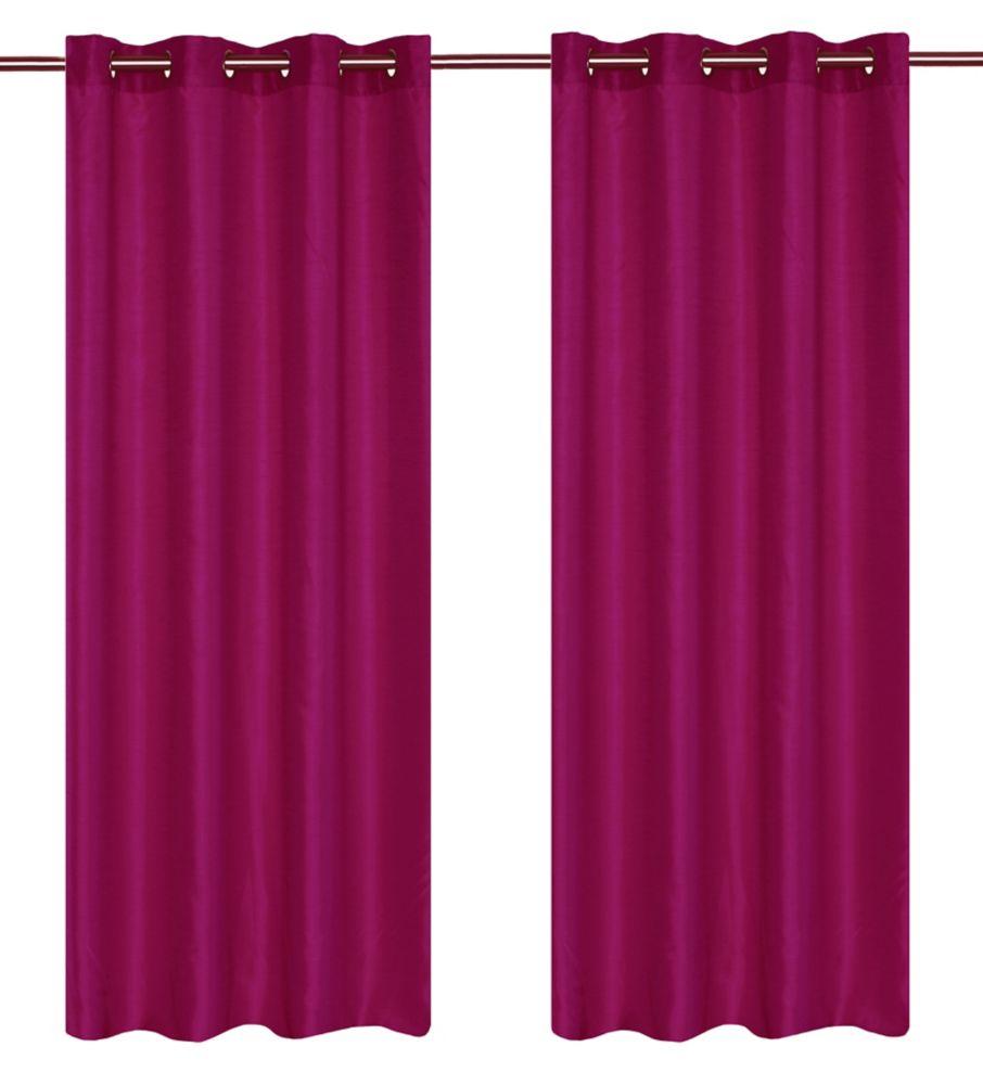 Grommet curtain pair 56x88 in Magenta 276 Canada Discount  CanadaHardwareDepotcom