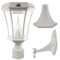 Gama Sonic Victorian White Solar Post-Mount/Wall-Mount ...