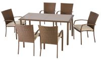 Hampton Bay Delaronde 7-Piece Woven Patio Dining Set | The ...