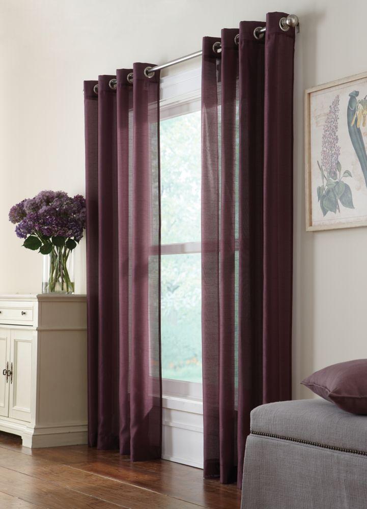 Window Curtain SemiSheers Canada Discount  CanadaHardwareDepotcom