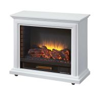 Pleasant Hearth Sheridan Mobile Fireplace - White | The ...