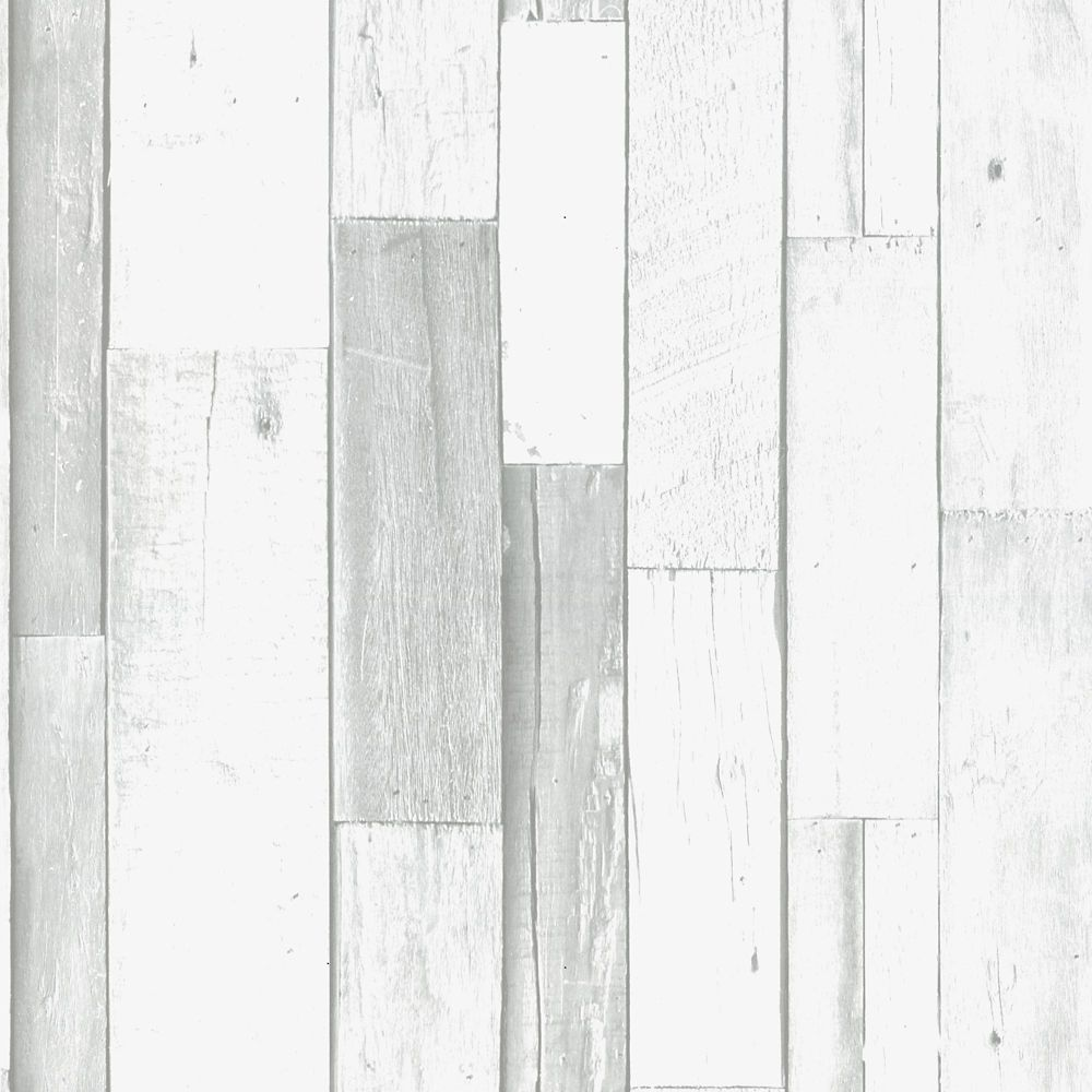 Superfresco Easy Scrapwood GreyWhite Wallpaper  The Home
