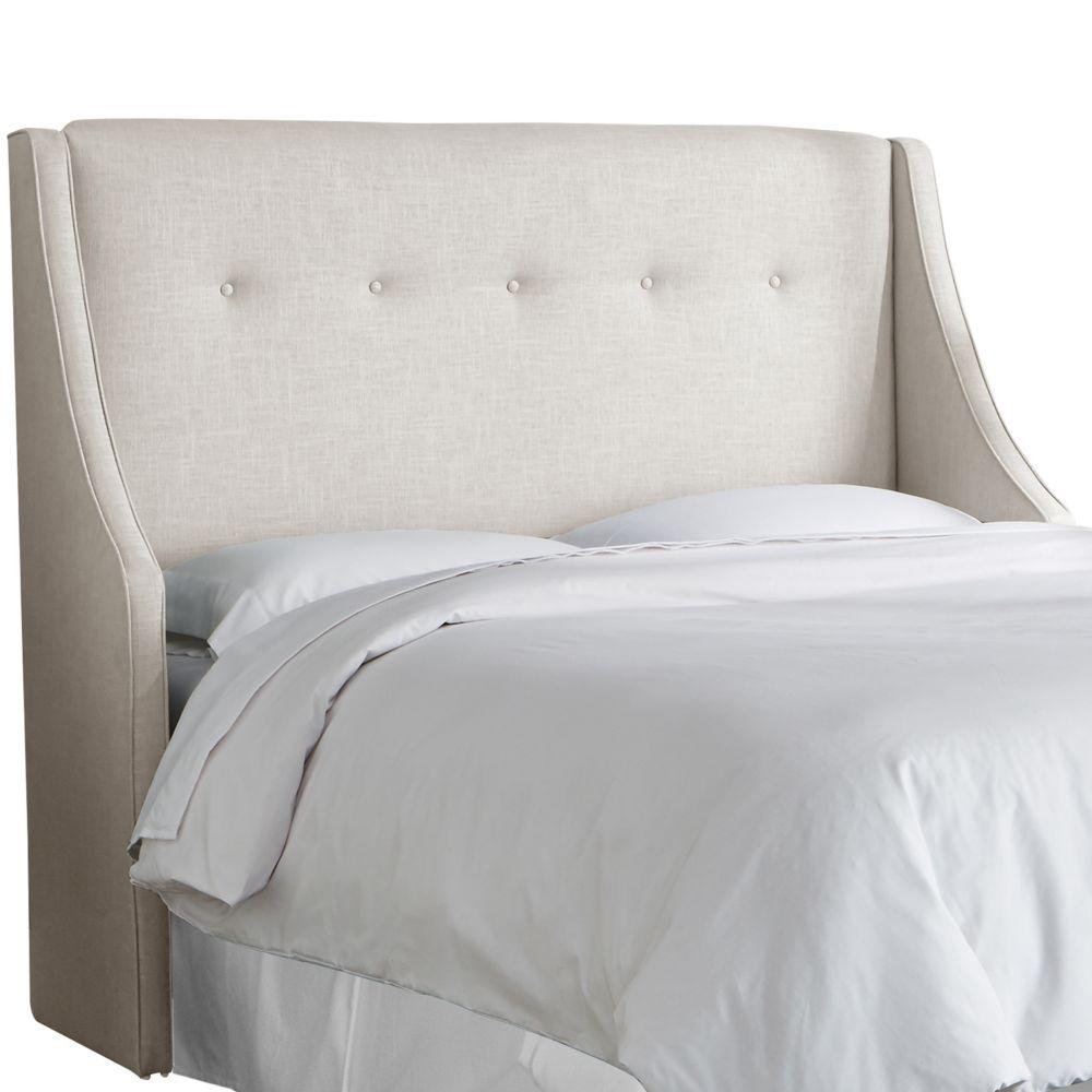 skyline furniture california king button tufted wingback
