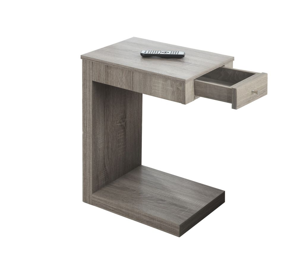 monarch specialties accent table with drawer in dark taupe the home depot canada