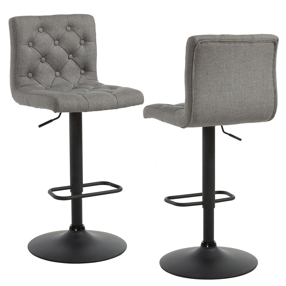 kitchen bar chairs upgrading countertops stools counter height the home depot canada dex adjustable stool in grey set of 2