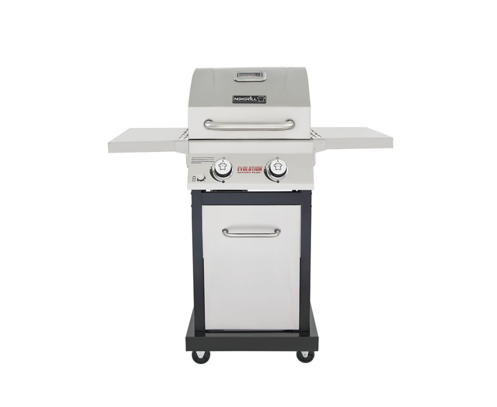 Nexgrill Evolution 2-burner Propane Bbq In Stainless Steel With Infrared Technology Home